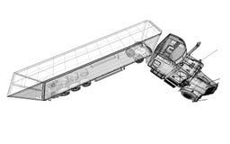 Véhicule de livraison de cargaison Images stock