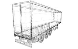 Véhicule de livraison de cargaison Image libre de droits