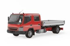 Véhicule de livraison de cargaison. Camion d'emboutage Photos stock
