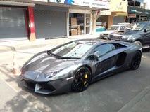 Véhicule de luxe blanc de Lamborghini Images stock