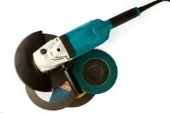 Véhicule de meulage et disques abrasifs Image libre de droits
