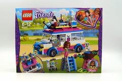 Véhicule de mission du ` s de Lego Friends Olivia Photographie stock