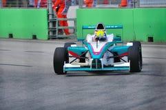 Véhicule de Petronas Mofaz au chemin de BMW Pacifique de formule Image libre de droits