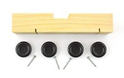 Véhicule de pin avec des roues et des clous Photos libres de droits
