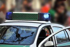 Véhicule de police allemand   Images stock