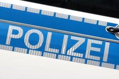 Véhicule de police allemand photo libre de droits