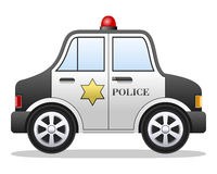 Véhicule de police de dessin animé Photos libres de droits
