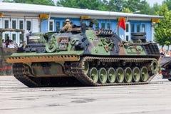 Véhicule de récupération blindé allemand, Bergepanzer 2 des commandes de Bundeswehr la journée 'portes ouvertes' au Burg de caser photo stock
