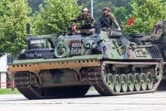 Véhicule de récupération blindé allemand, Bergepanzer 2 des commandes de Bundeswehr la journée 'portes ouvertes' au Burg de caser images libres de droits