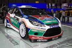 Véhicule de rassemblement de la fiesta RS WRC 2011 de Ford - Genève 2011 Photos libres de droits