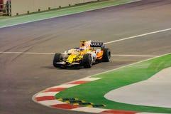 Véhicule de Renault de Nelsinho Piquet dans 2008 F1 Photographie stock