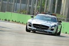 Véhicule de sécurité de Mercedes SLS AMG au généraliste de Singapour Photos libres de droits