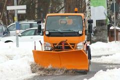 Véhicule de service de l'hiver Photo stock