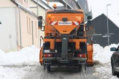 Véhicule de service de l'hiver Images libres de droits
