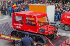 Véhicule de special de corps de sapeurs-pompiers images libres de droits