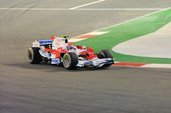 Véhicule de Toyota de Timo Glock dans 2008 F1 Photos libres de droits