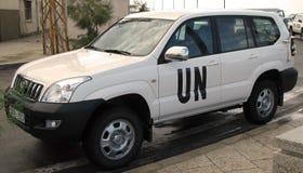 Véhicule de troupes des Nations Unies Photographie stock libre de droits
