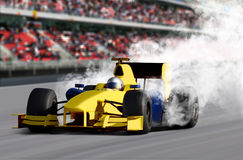 Véhicule de vitesse de Formule 1 Photographie stock libre de droits