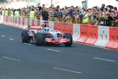 Véhicule de Vodafone McLaren Mercedes F1 ; Mika Hakkinen photographie stock libre de droits