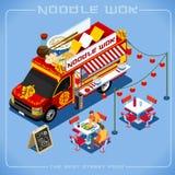 Véhicule du camion 08 de nourriture isométrique Image stock