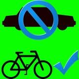 Véhicule et bicyclette Image libre de droits