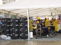 Véhicule F1 de Renauit pour le spectacle de tournée photos libres de droits