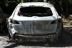 Véhicule incendié Photographie stock libre de droits