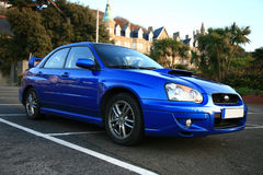 Véhicule japonais de rendement - Subaru Impreza Images libres de droits