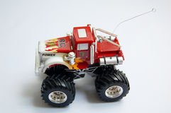 Véhicule rouge de jouet Images stock