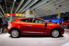 Véhicule rouge Renault Megane Photographie stock libre de droits