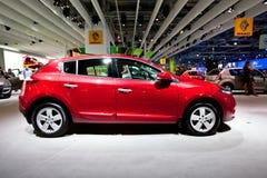 Véhicule rouge Renault Megane Photo stock