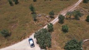Véhicule satellite dépistant la voiture clips vidéos