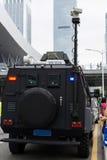 Véhicule spécial de police en service Photo libre de droits
