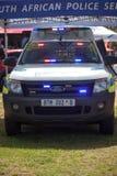 Véhicule sud-africain de la police K-9 sur l'affichage Photos stock
