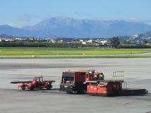 Véhicule utilitaire d'aéroport de Malaga Photographie stock libre de droits