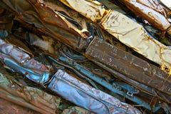 Véhicules écrasés colorés Photographie stock