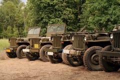 Véhicules américains d'armée Photos stock