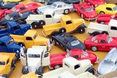 Véhicules colorés de jouet Photographie stock libre de droits