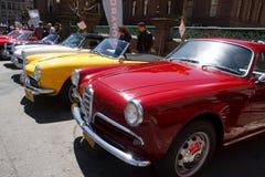 véhicules d'Alfa Romeo des années 50 Photographie stock libre de droits