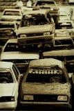 Véhicules dans le junkyard Photos stock