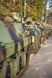 Véhicules de combat d'infanterie des forces armées serbes Images libres de droits