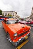Véhicules de cru stationnés à La Havane photos libres de droits