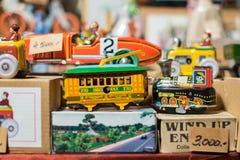 Véhicules de jouet en métal photographie stock libre de droits