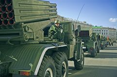 Véhicules de missile rayés Images libres de droits