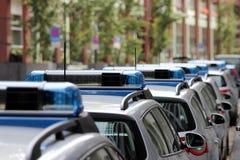 Véhicules de police allemands Image libre de droits