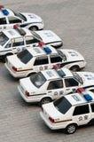 Véhicules de police chinois Images libres de droits
