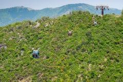 Véhicules de Ropeway de Hakone Images stock
