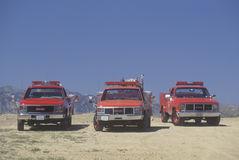 Véhicules de sauvetage, le comté de Los Angeles, la Californie Images libres de droits