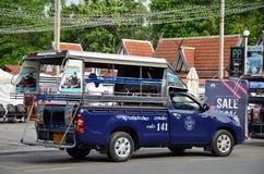 Véhicules de voiture de collecte dans la ville Pattaya Photos stock