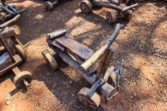 Véhicules en bois de jouet Photographie stock libre de droits